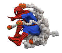 Marvel Comic Gallery Spider-Man Pumpkin Bombs PVC Diorama