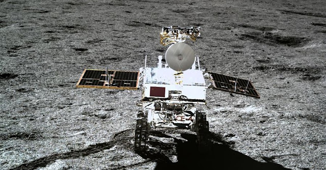 China's Yutu-2 rover on the moon. Credit: Xinhua