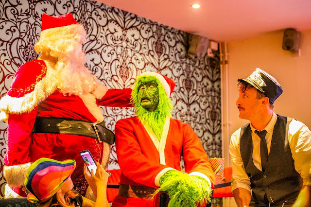 Santa, the Grinch and the controller from the Polar Express at the Tyneside Cinema Christmas 2019 launch, mandy charlton, Photographer, writer, blogger