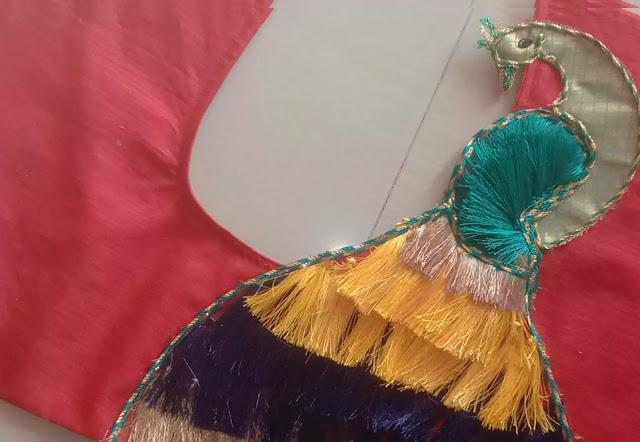 Peacock Blouse Design