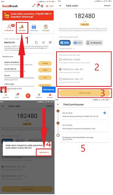 cara melakukan penarikan di app buzzbreak