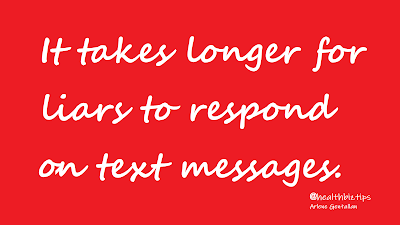 It takes longer for liars to respond on text messages | Healthbiztips