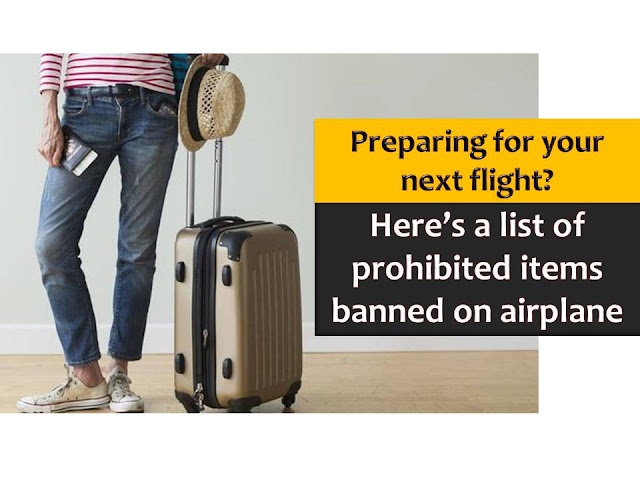 As a passenger, it is important that we know what are allowed and not allowed to bring when traveling via an airplane to avoid problems in our travel.  The Department of Transportation and Communication - Office for Transporation Security (DOTC-OTS) released an updated list of items that are not allowed to bring when traveling via airplane.  Memorandum Circular 2015-02 or the Revised Prohibited Items List, applies to all flights originating within the country and adheres to standards set by the International Civil Aviation Organization.