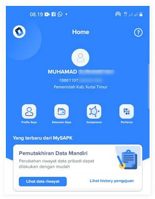 cara aktivasi akun dan login di Mysapk
