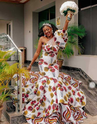 Ankara wedding dress style for Bride