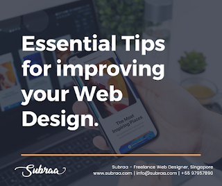 Essential Tips For Improving Your Web Design In Singapore 2020 by Freelance Web Designer in Singapore