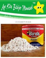 Apa itu Custard Powder, Tepung Custard itu bagaimana