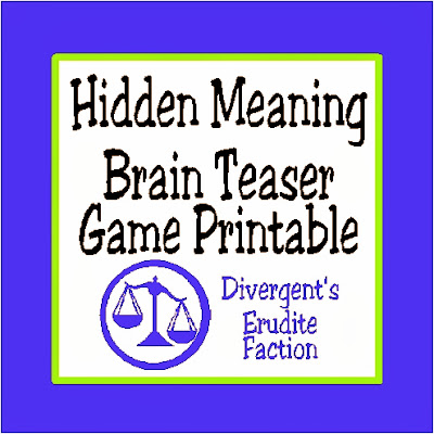 DIY Party Mom: Hidden Meaning Brain Teaser Free Printable Game