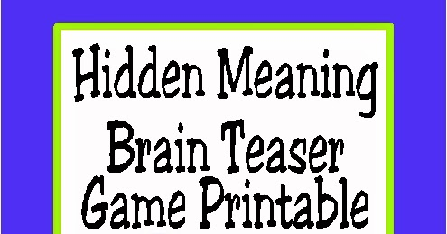 picture about Printable Brain Teasers for Middle School known as Printable Thoughts Teasers For Substantial College or university Learners - totally free