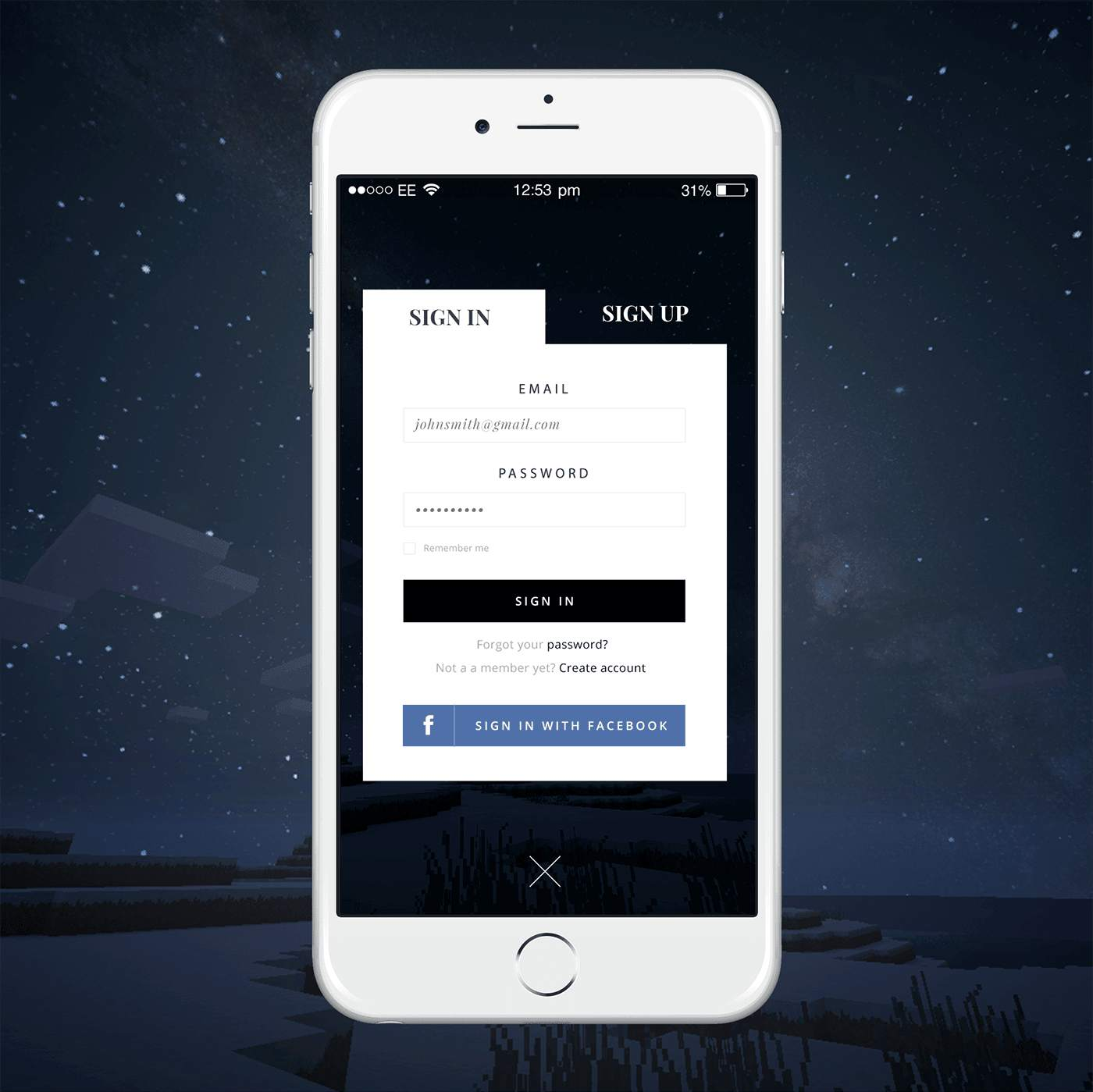 login screen design inspiration - Ui Design Ideas