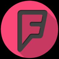foursquare colorful button