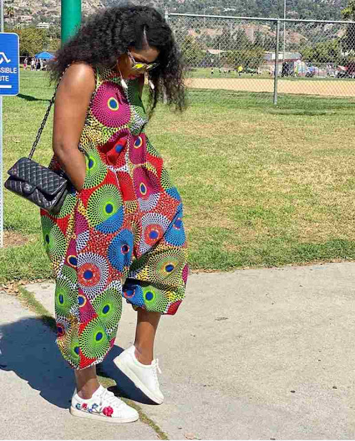 Ankara jumpsuit designs for slim and plus size ladies
