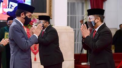 Presiden Jokowi Lantik Enam Menteri Baru Kabinet Indonesia Maju