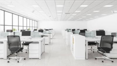 Gambar tata ruang kantor terbuka