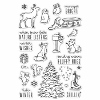 Hero Arts Winter Time Fun stamp set
