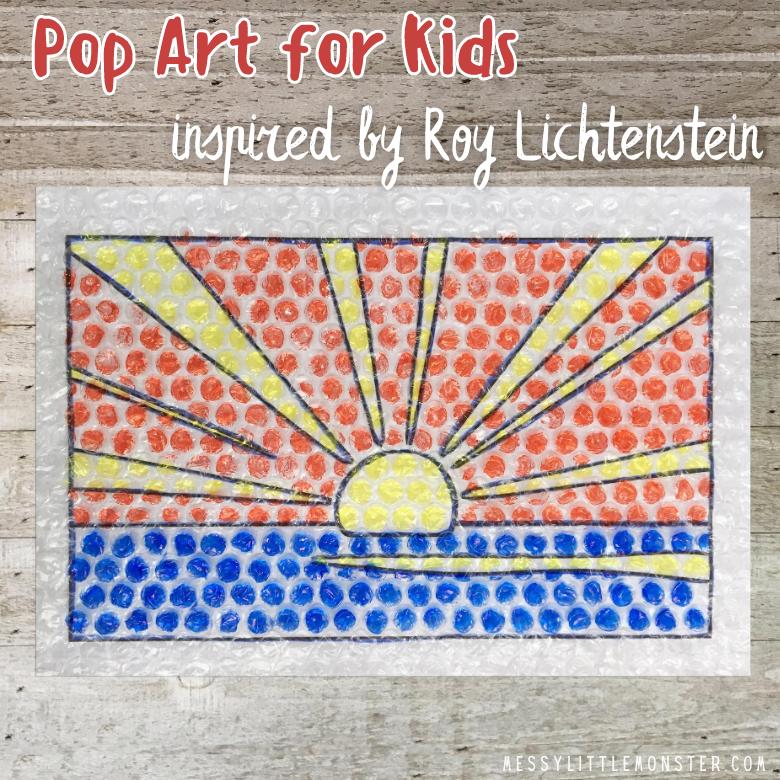 Roy Lichtenstein Pop Art for Kids - Sunrise Template Included!
