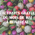 Les activités gratuites à faire en mai à Montréal