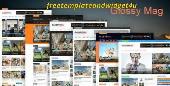 Glossy Mag Blogger Template Free Download Paid Version