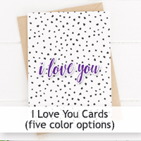 Free I Love You Printable Cards