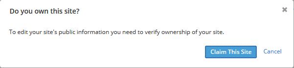 Verifikasi kepemilikan situs di Alexa