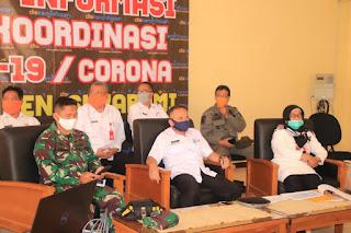 Sekda Kab. Sukabumi Paparkan Penanganan Covid-19 Dalam Rapat Virtual