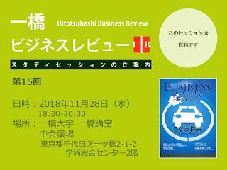 【お知らせ】第15回一橋ビジネスレビュー・スタディセッション