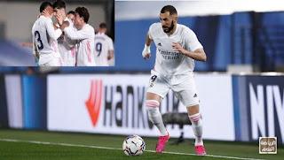فوز ريال مدريد على أوساسونا يشعل الليجا  و يكسب الصدارة ,,, ريال مدريد يريد أن ينافس أتلتيكو و برشالونة 2021 / 2020 .