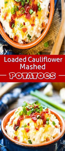 Loaded Cauliflower Mashed Potatoes Recipe
