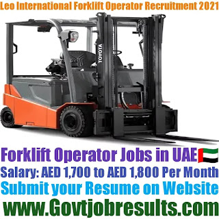 Leo International Forklift Operator Recruitment 2021-22