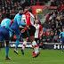 Olivier Giroud menyelamatkan Muka Arsenal dengan equalizer 88 menit saat The Gunners lolos dari Southampton dengan hasil imbang 1-1 yang nyaris tidak wajar