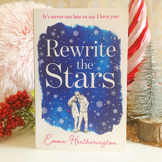 rewrite the stars by emma heatherington stood up. Holly to the left, small silver christmas tree on right side
