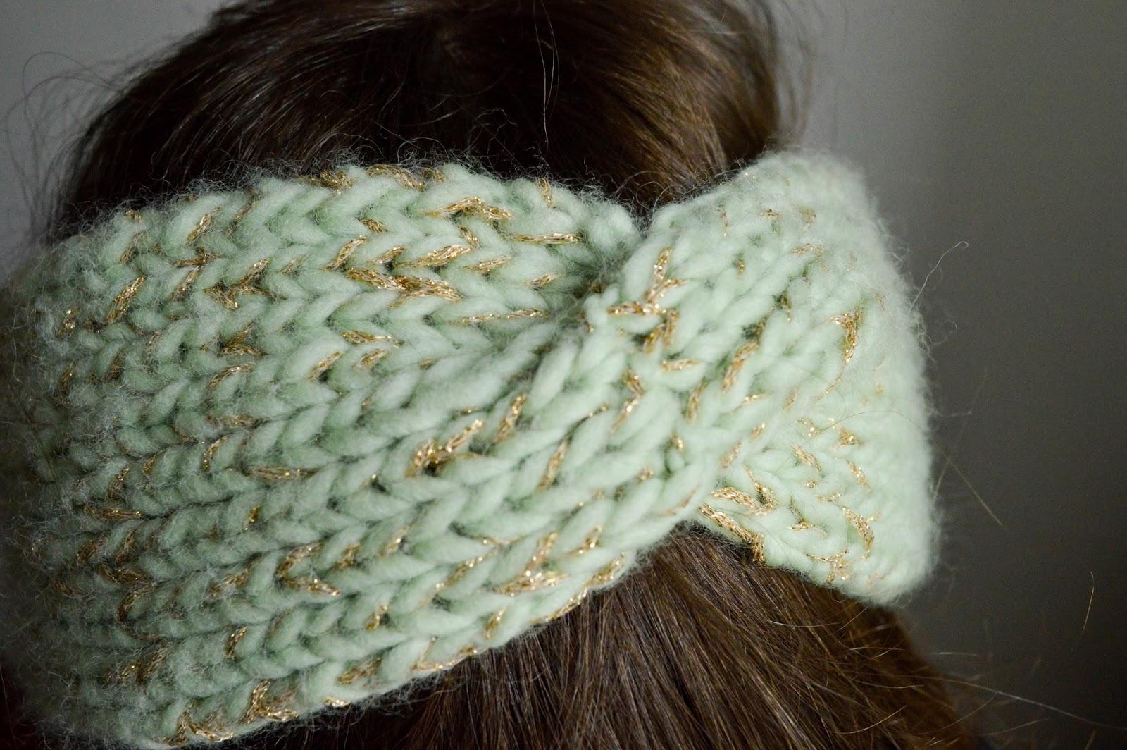 tricoter headband torsade