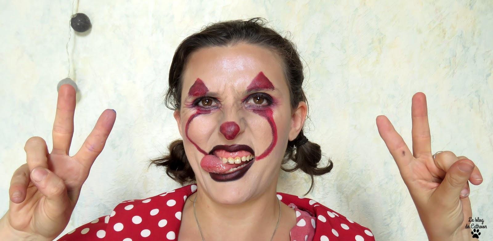 Maquillage facile Clown Ca