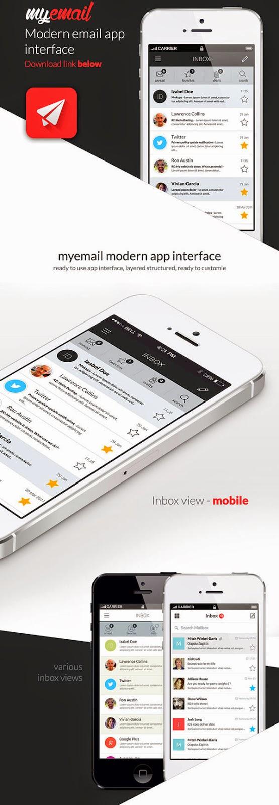 Myemail App UI