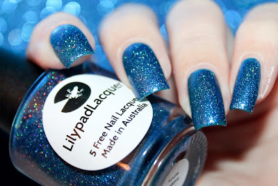 "Swatch of the nail polish ""Azure Dreams"" from Lilypad Lacquer"