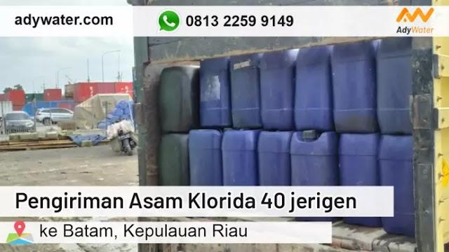 Pengiriman Asam Klorida 40 jerigen ke Batam | Harga Jual Asam Klorida 25 Liter 2020