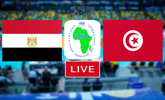 بث مباشر | مشاهدة مباراة المنتخب التونسي ضد منتخب مصر في نصف النهائي البطولة الافريقية للكرة الطائرة - Match Tunisie Flashscore Volleyball African Cha