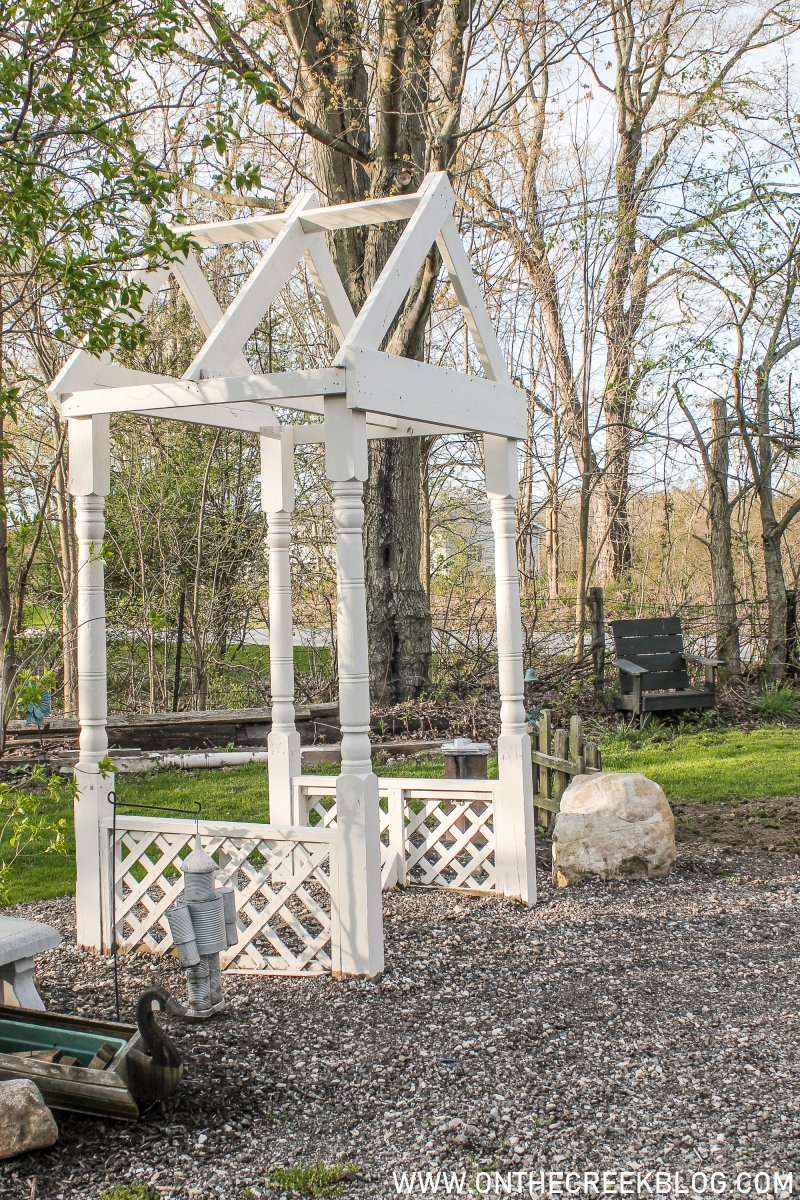 Building a small DIY pergola | On The Creek Blog