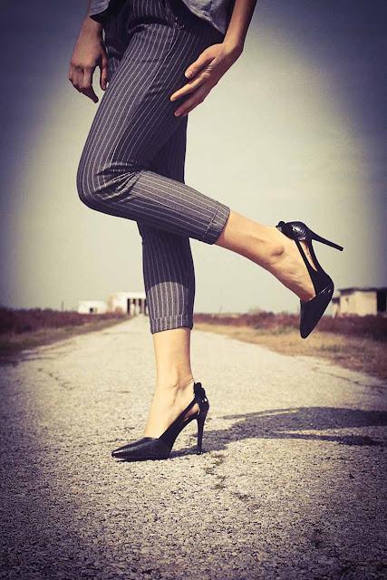 Showing heels, image