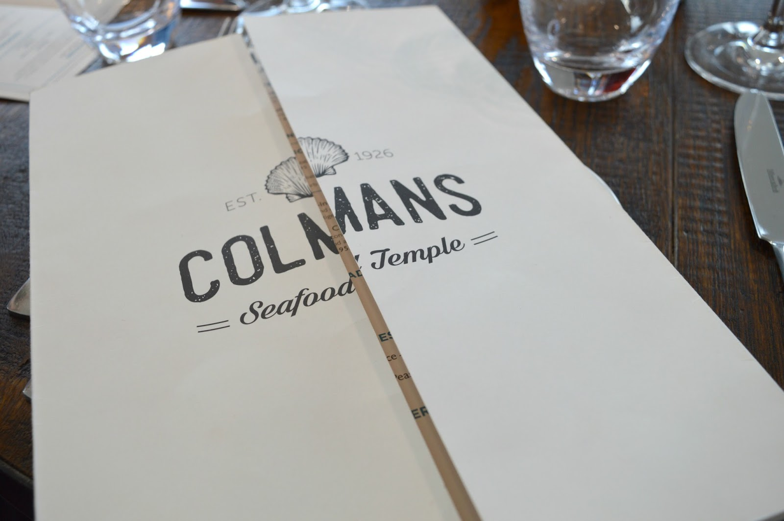 Colmans Seafood Temple, South Shields - Menu