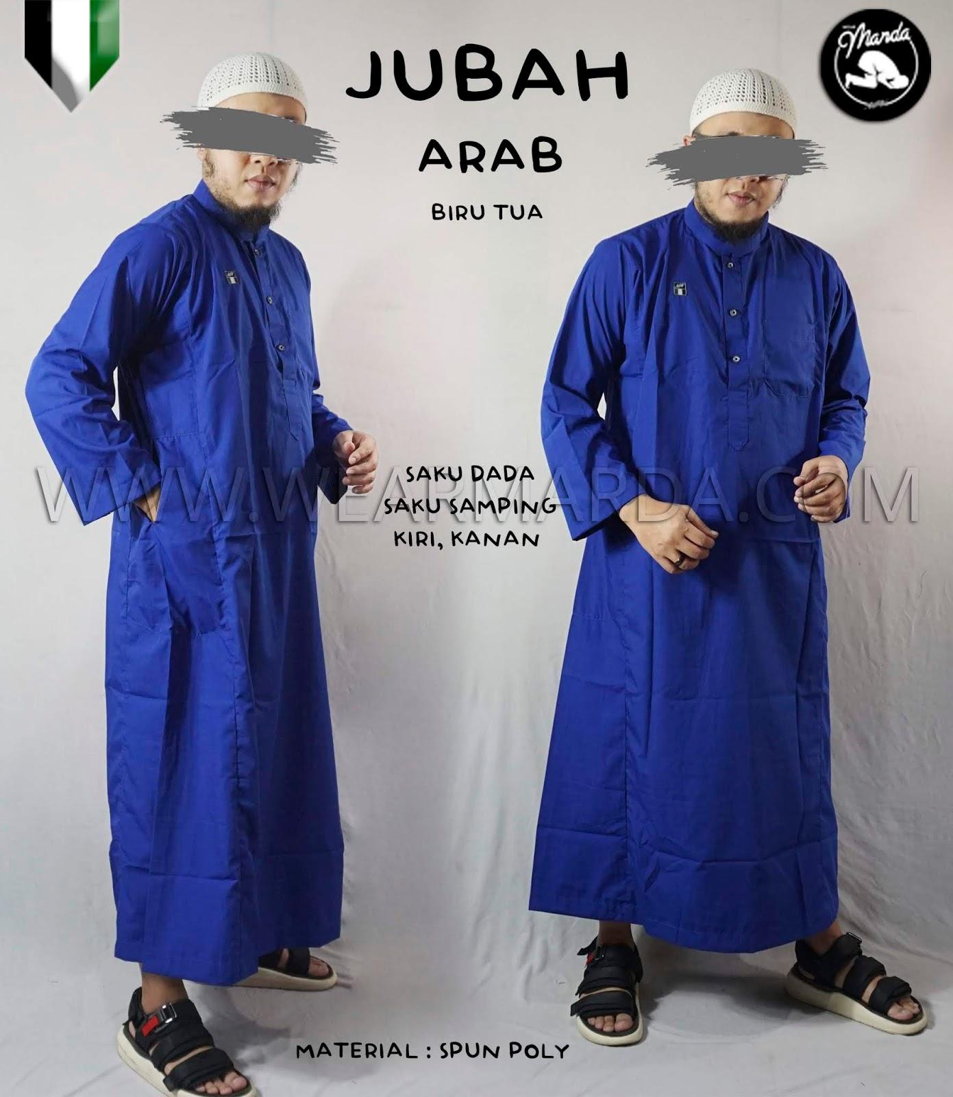 JUBAH ARAB BIRU TUA