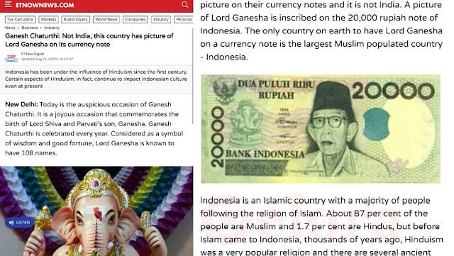 India Puji RI: Negara Muslim Terbesar, Tapi di Uang Rupiah Ada Gambar Dewa Hindu