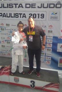 Judoca Milenna Alves Vieira comemorou terceira colocação no Paulista de Judô