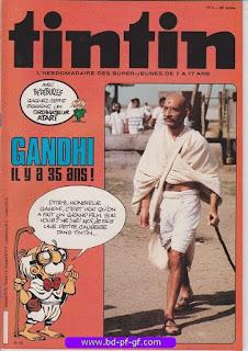 Tintin-numéro 4, année 38, 1983, Gandhi, il y 35 ans