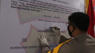 Polres Tebingtinggi Canangkan Wilayah Bebas Korupsi, Personel Diminta Tak Lakukan Perbuatan Tercela