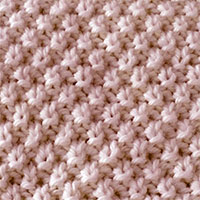 The Double Seed is a favourite stitch pattern for knitters. Fun, quick and easy to knit.