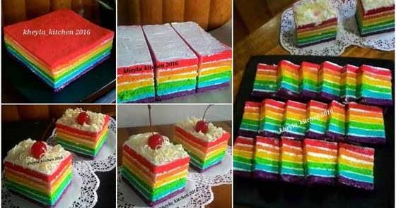 Resep Rainbow Cake Kukus Ala Ny.Liem Yang Super Lembut ...