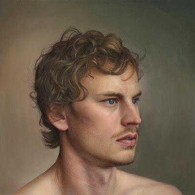Pintura hiperrealista de un hombre