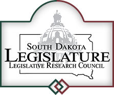 LOGO: South Dakota Legislature; Legislative Research Council