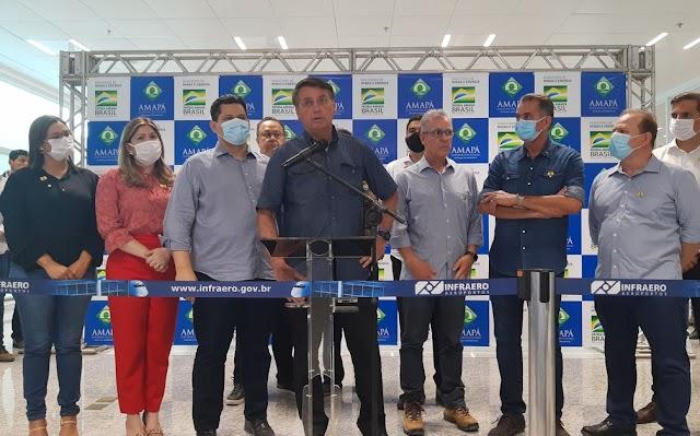 BRASIL-'Fizemos todo o possível para restabelecer a energia', diz Bolsonaro ao visitar o Amapá após 19 dias e 2 apagões